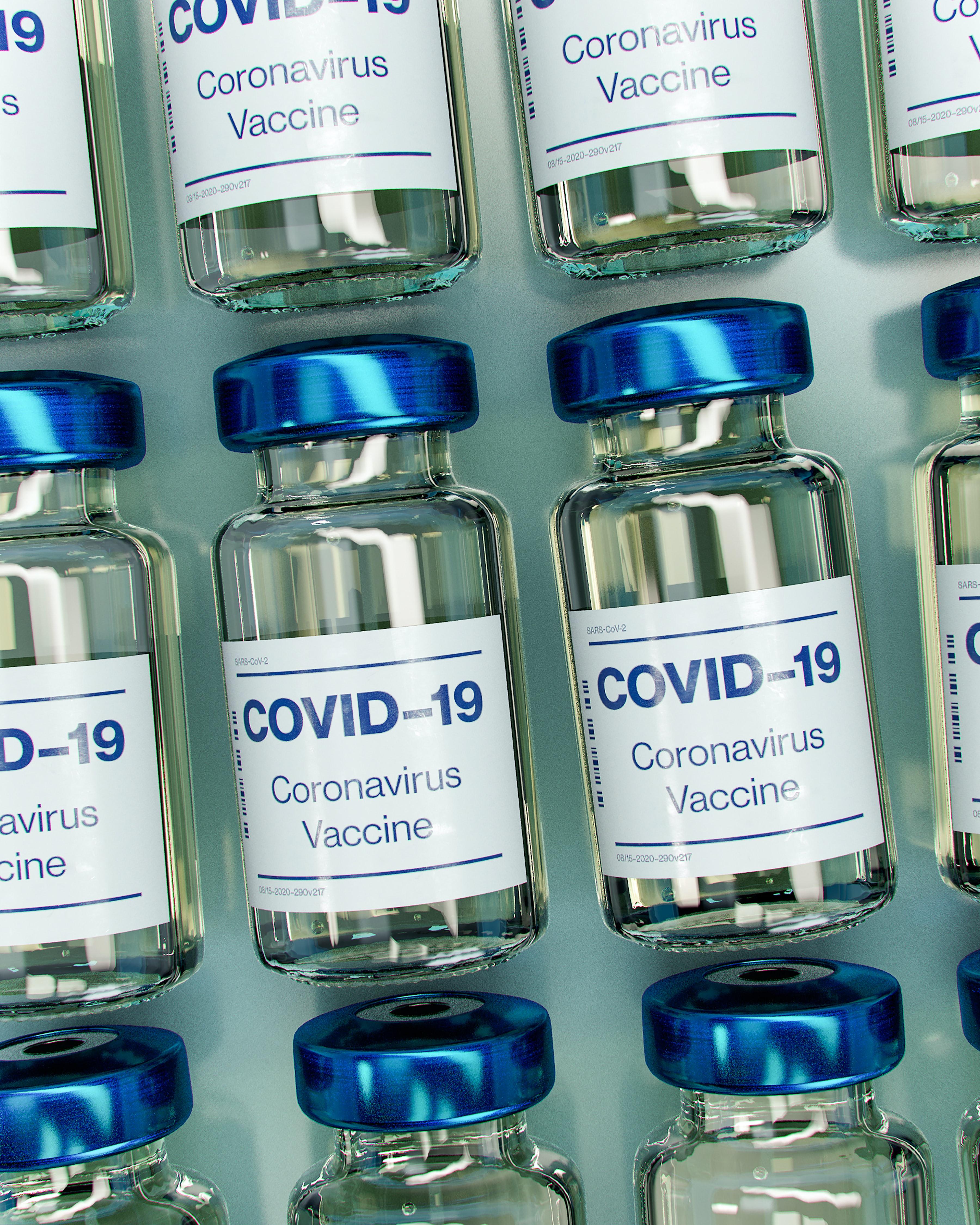 Picture of Covid vaccine vials