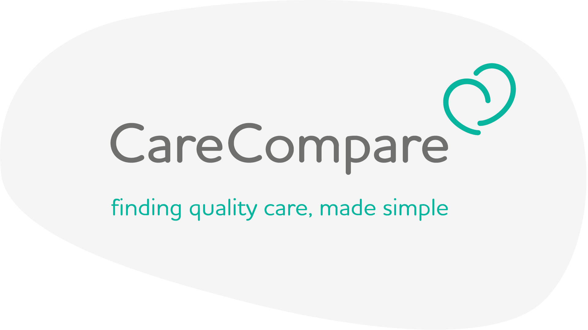 New CareCompare logo with tagline, inside a shape