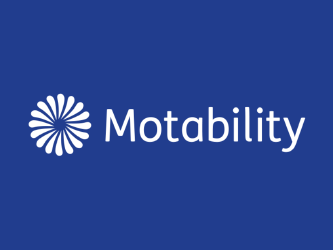 Picture of the Motability Logo, with circle of petals and the word 'Motability' written next to it